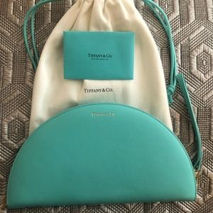 Brand New Tiffany Leather Half Moon Wallet